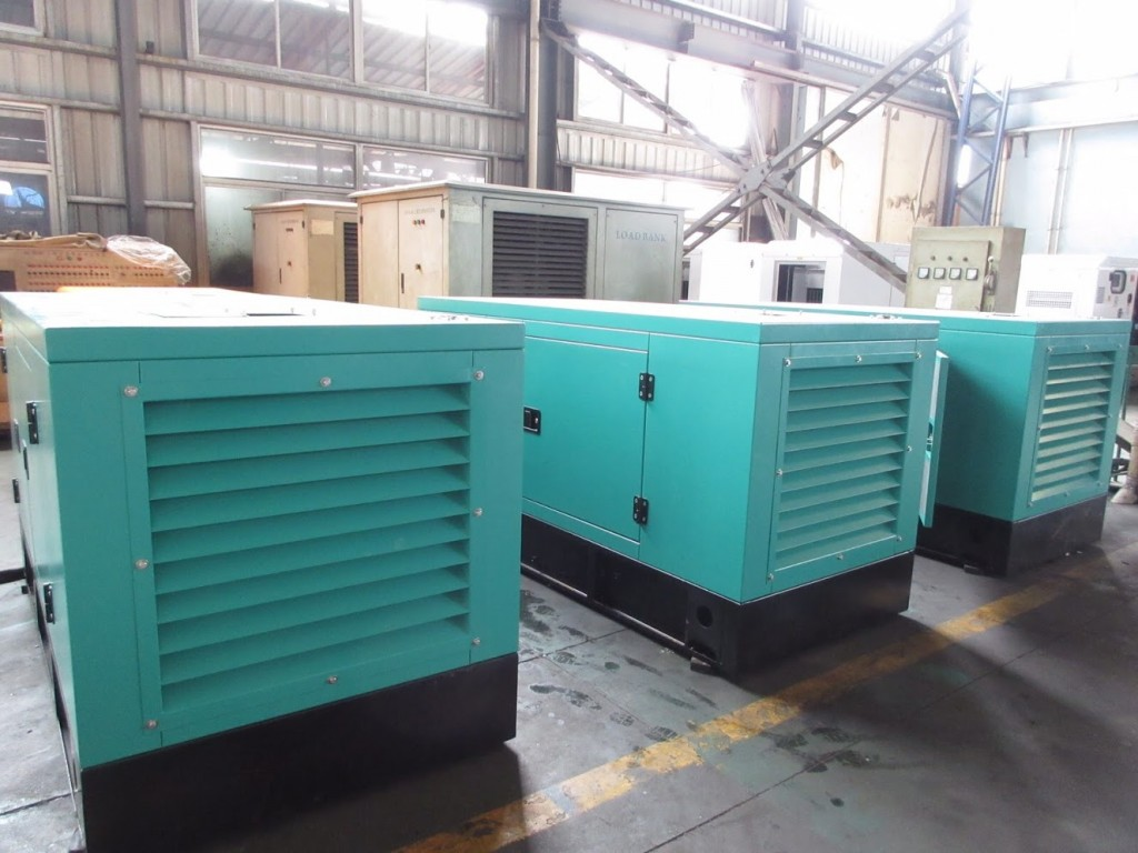 20kva genset lined up